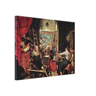 Diego Velazquez - The Spinners Canvas Print