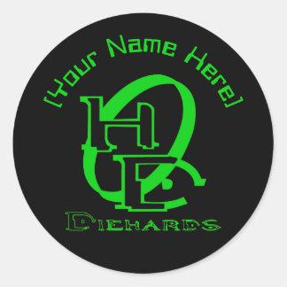 Diehards Gamer Graphic Classic Round Sticker