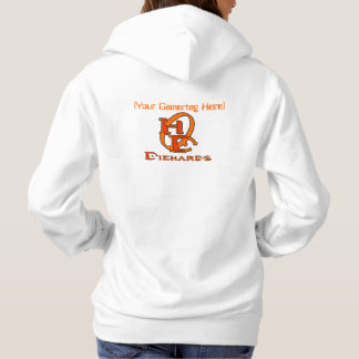 Diehards Gamer Graphic on Back Your Gamertag Hoodie