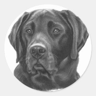 Diesel, Black Labrador Retriever Classic Round Sticker