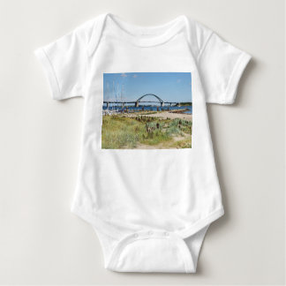Diesel ICE on the Fehmarnsundbrücke Baby Bodysuit
