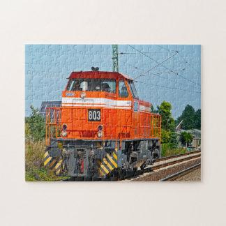 Diesel Locomotive Maine. Jigsaw Puzzle