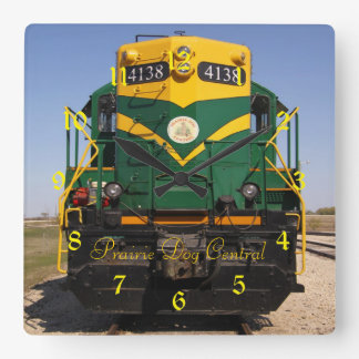 Diesel Locomotive No. 4138 Square Clock