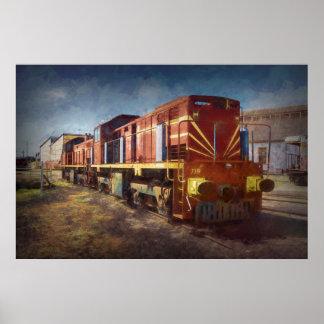 Diesel Locomotive Poster