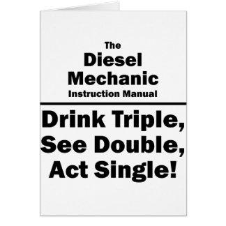 diesel mechanic note card