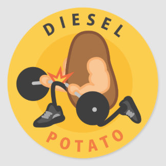 Diesel Potato Sticker