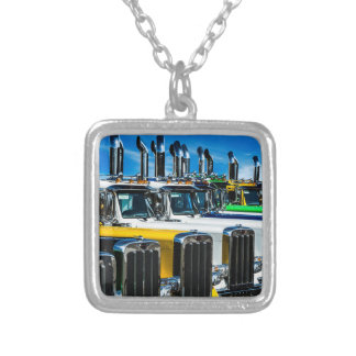 Diesel Trucks Silver Plated Necklace