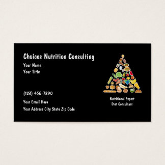 Diet And Nutrition Businesscards Business Card