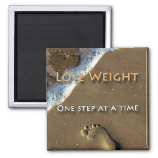 Diet and Weight Loss One Step At A Time Magnet