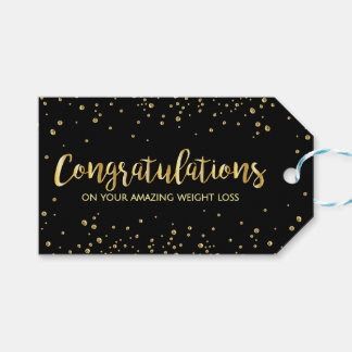 Diet Fitness Weight Loss Slim Club Congratulations Pack Of Gift Tags