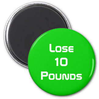Diet Health And Fitness Goals Round Magnet