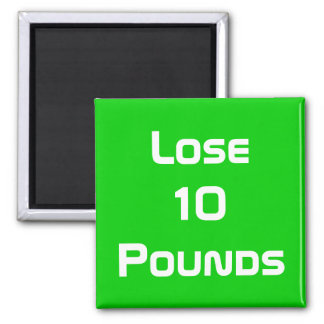 Diet Health And Fitness Goals Square Magnet