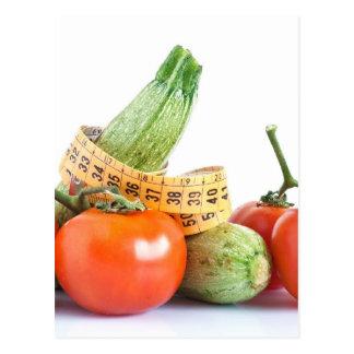 diet ingredients postcard