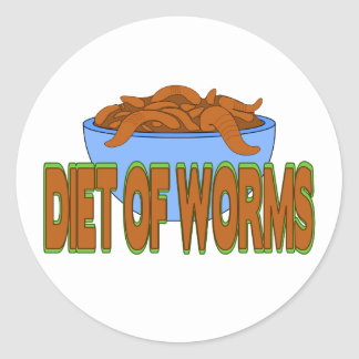 Diet of Worms Round Sticker