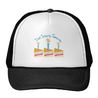Diet Starts Tomorrow Trucker Hat