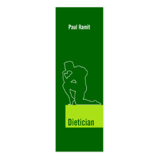 Dietician Green Business Card