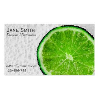 Dietician Nutritionist freelance health Business Card