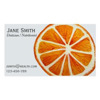 Dietician Nutritionist freelance health fruity Business Card