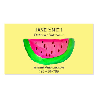 Dietician Nutritionist freelance health fruity Pack Of Standard Business Cards