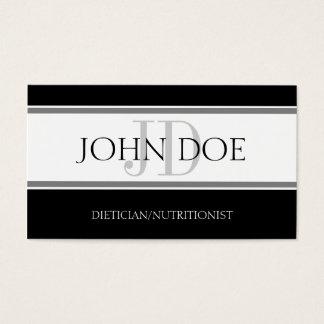 Dietician/Nutritionist Stripe W/W Business Card