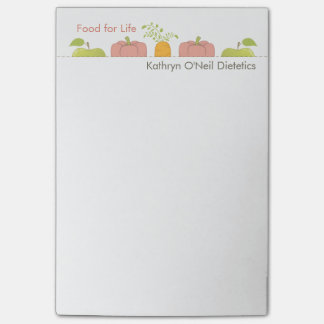 Dietician or Nutritionist Writes a Message Post-it® Notes