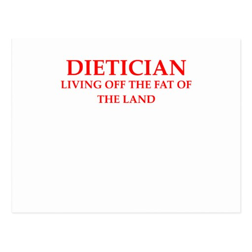 dietician post card