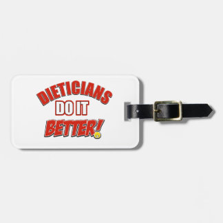 Dieticians job designs travel bag tag