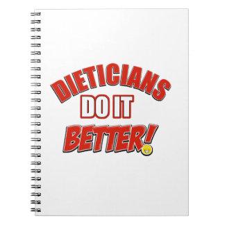 Dieticians job designs spiral note book