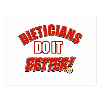 Dieticians job designs postcard