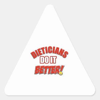 Dieticians job designs triangle sticker