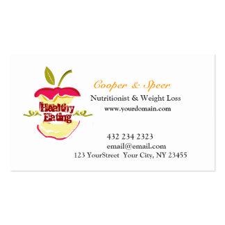 Dietitian Nutritionist  Apple Design  Business Business Card Templates