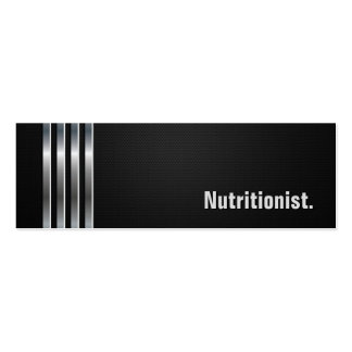 Dietitian Nutritionist - Black Silver Stripes Business Card