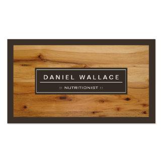 Dietitian Nutritionist - Classy Wood Grain Look Business Card