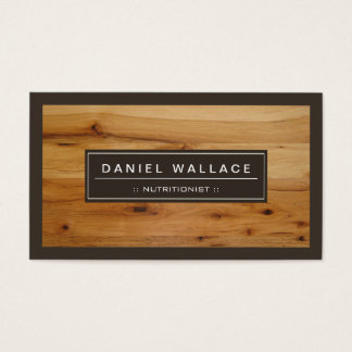 Dietitian Nutritionist - Classy Wood Grain Look Business Card