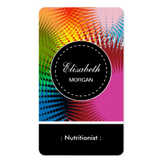 Dietitian Nutritionist- Colorful Abstract Pattern Double-Sided Standard Business Cards (Pack Of 100)