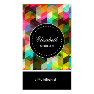 Dietitian Nutritionist- Colorful Mosaic Pattern Pack Of Standard Business Cards