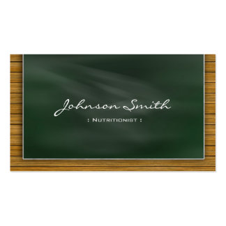 Dietitian Nutritionist - Cool Chalkboard Pack Of Standard Business Cards