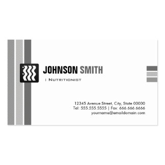 Dietitian Nutritionist - Creative Black White Double-Sided Standard Business Cards (Pack Of 100)