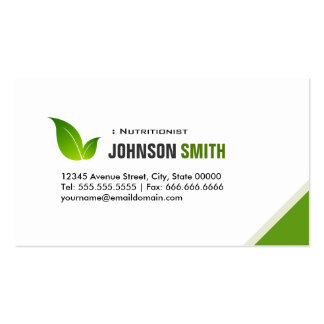 Dietitian Nutritionist - Elegant Modern Green Pack Of Standard Business Cards