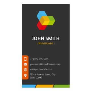 Dietitian Nutritionist - Modern Multicolor Double-Sided Standard Business Cards (Pack Of 100)
