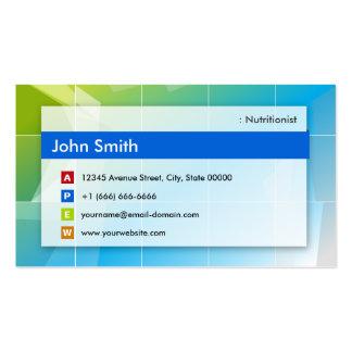 Dietitian Nutritionist - Modern Multipurpose Pack Of Standard Business Cards