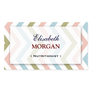 Dietitian Nutritionist - Natural Graceful Chevron Double-Sided Standard Business Cards (Pack Of 100)