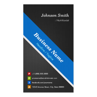 Dietitian Nutritionist - Premium Double Sided Pack Of Standard Business Cards