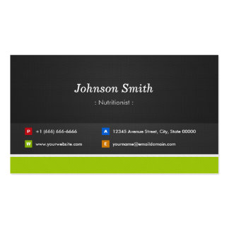 Dietitian Nutritionist - Professional and Premium Pack Of Standard Business Cards