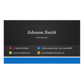 Dietitian Nutritionist - Professional Customizable Double-Sided Standard Business Cards (Pack Of 100)