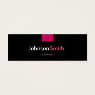 Dietitian Nutritionist - Rose Pink Compact Mini Business Card
