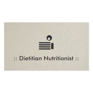 Dietitian Nutritionist Simple Elegant Professional Business Card