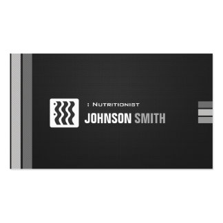 Dietitian Nutritionist - Urban Black White Double-Sided Standard Business Cards (Pack Of 100)