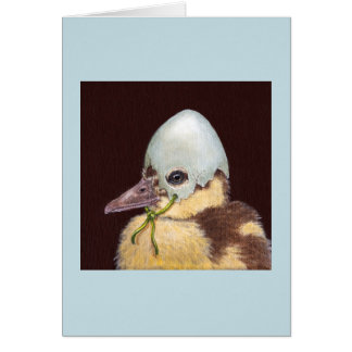Dietrich the baby duck card