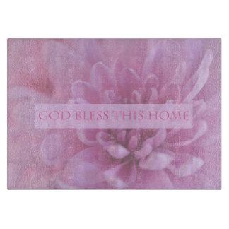 Dieu bénissent cette planche à découper rose à la